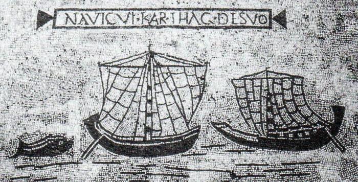 navigare nell'antichità navi romane