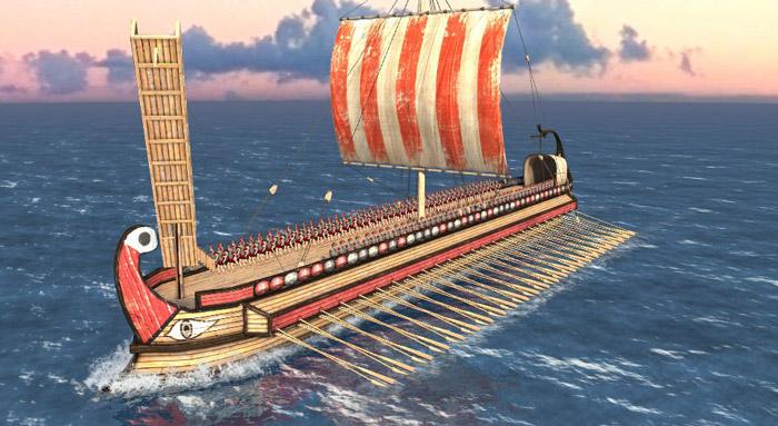 trireme romana navi da guerra